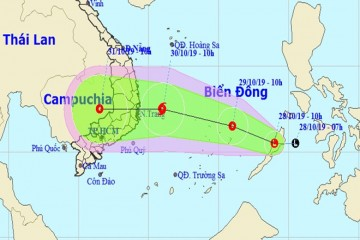 Xuất hiện áp thấp nhiệt đới ở biển Đông có thể mạnh thành Bão, Đà Lạt ảnh hưởng mưa từ ngày 28/10